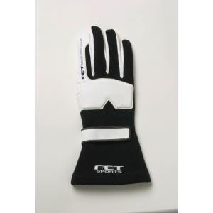 FET sports/エフイーティースポーツ 3Dレーシンググローブ ブラック×ホワイト Sサイズ 71172013/FT3DGL13 afterparts-jp