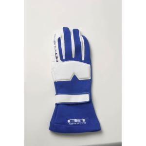 FET sports/エフイーティースポーツ 3Dレーシンググローブ ブルー×ホワイト Sサイズ 71172016/FT3DGL16 afterparts-jp