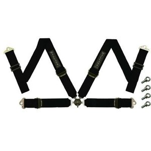 WILLANS/ウイランズ レーシングハーネス タイプS4 4X4 右座席用  ブラック ストラップ幅(肩/腰):3インチ/3インチ 4点支持・4点取付 WS2012|afterparts-jp