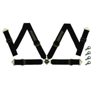 WILLANS/ウイランズ レーシングハーネス タイプS4 4X4 左座席用 ブラック ストラップ幅(肩/腰):3インチ/3インチ 4点支持・4点取付 WS2022|afterparts-jp