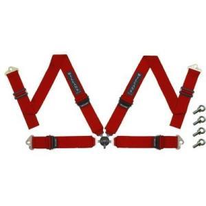 WILLANS/ウイランズ レーシングハーネス タイプS4 4X4 左座席用 レッド ストラップ幅(肩/腰):3インチ/3インチ 4点支持・4点取付 WS2023|afterparts-jp
