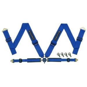 WILLANS/ウイランズ レーシングハーネス タイプS2 4X4 左座席用 ブルー ストラップ幅(肩/腰):3インチ/2インチ 4点支持・4点取付 WS3021|afterparts-jp