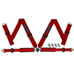 WILLANS/ウイランズ レーシングハーネス タイプS2 4X4 左座席用 レッド ストラップ幅(肩/腰):3インチ/2インチ 4点支持・4点取付 WS3023|afterparts-jp