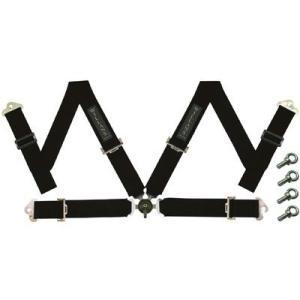 WILLANS/ウイランズ レーシングハーネス CLUB4 4X4 右座席用 ブラック ストラップ幅(肩/腰):3インチ/3インチ 4点支持・4点取付 WS4012|afterparts-jp