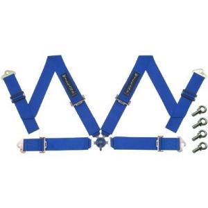 WILLANS/ウイランズ レーシングハーネス CLUB4 4X4 左座席用 ブルー ストラップ幅(肩/腰):3インチ/3インチ 4点支持・4点取付 WS4021|afterparts-jp