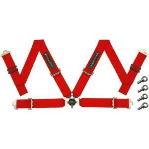 WILLANS/ウイランズ レーシングハーネス CLUB4 4X4 左座席用 レッド ストラップ幅(肩/腰):3インチ/3インチ 4点支持・4点取付 WS4023|afterparts-jp