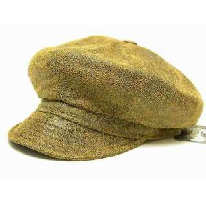 ニューヨークハット(NEW YORK HAT) キャスケット アンティークレザー ブラウン