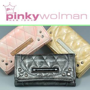 Pinky Wolman 【ピンキーウォルマン】新作レディスキーケース★高級感漂うエナメル&ラインストーン入り♪|again