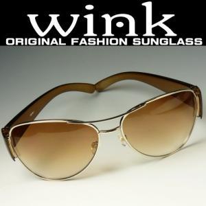 WINK(ウィンク)サングラス デカサン/レディース/UV 紫外線カット|again