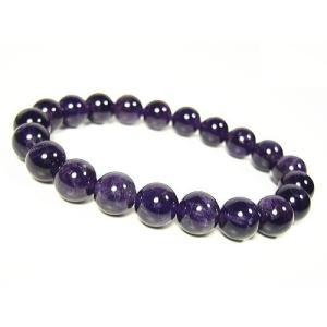★完売御礼★宝石アメジスト≪紫水晶≫天然石 パワーストーンブレスレット10mm/1点もの|again