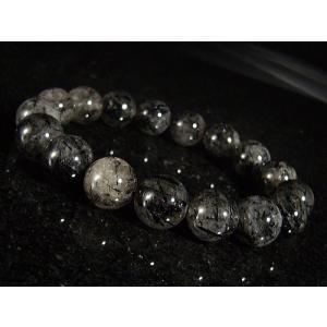 ★完売御礼★ブラックルチル(黒針水晶)天然石ブレスレット13mm≪1点もの≫ again