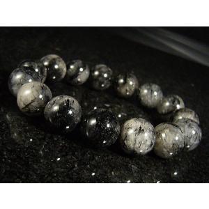 ★完売御礼★ブラックルチル(黒針水晶)天然石ブレスレット14mm≪1点もの≫ again
