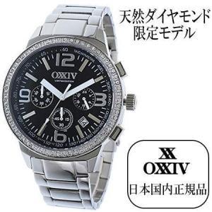 天然ダイヤモンド入り特別モデル OXXIV オクシブ クロノグラフ クオーツ メンズ 腕時計 again