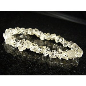 ★完売御礼★/高品質大粒ハーキマーダイヤモンド/天然石ブレスレット/1点もの|again