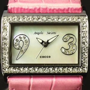 ≪完売御礼≫Angelo Jurietti cocco♪レディス時計♪輝くスワロフスキーがいっぱい!|again