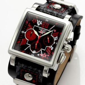 ★完売御礼★COGU ITALY(コグ イタリー) 桜 SAKURA メンズクロノグラフ腕時計|again