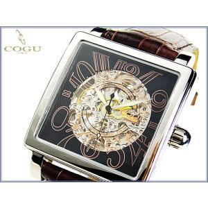 COGU ITALYコグ腕時計オートマチック/Wスケルトン|again