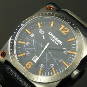 DIESEL(ディーゼル)腕時計★超でかフェイスがカッコイイ!高級本牛革使用♪★|again