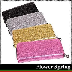FlowerSpring♪使いやすいラウンドファスナー長財布|again