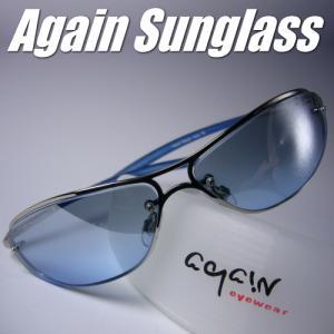 ★完売御礼★イタリーデザインAGAINサングラス/サングラス メンズ UV 100% カット|again