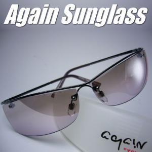 イタリーデザインAGAINサングラス/サングラス メンズ UV 100% カット/ライトカラー|again