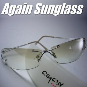 イタリーデザインAGAINサングラス/サングラス メンズ UV カット/ライトカラー|again