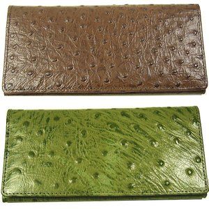 本牛革財布オーストリッチ型押/ 財布 レディース/財布 メンズ/おとなの本革財布|again