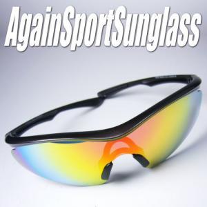 AGAINスポーツサングラス正規品/アゲインサングラス/ゴルフ ジョギング 野球に|again