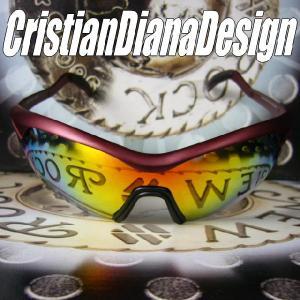 AGAINスポーツモデル=Christian Diana Design=≪Purple Wing パープル・ウイング≫スノーボード&ゴルフに&バイク用に!|again
