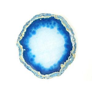 ★完売御礼★[良色]メノウ瑪瑙プレート/天然石パワーストーンインテリア/ブルー【1点もの】|again