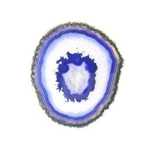 [良色]メノウ瑪瑙プレート/天然石パワーストーンインテリア/パープル【1点もの】|again