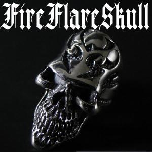 職人の超こだわり&技巧!≪FireFlareSkull≫シルバー925リング指輪|again