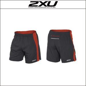 2XU【ツータイムズユー】men's ペース 7inch ショーツ(MR3756b)グレー/レッド(INK/DTR)L|agbicycle
