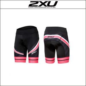 2XU【ツータイムズユー】women's パフォームプロサイクルショーツ(WC3720b)Sサイズ・BLK/CHP|agbicycle