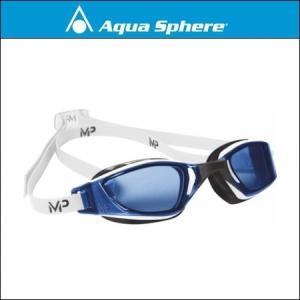 AquaSphere アクアスフィア  XCEED エクシード WHITE / BLACK, BLUE LENS|agbicycle