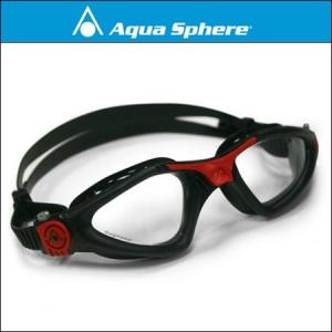 AquaSphere アクアスフィア カイエン Regular Fit[ クリアレンズ ]ブラック/レッド 【170790】|agbicycle