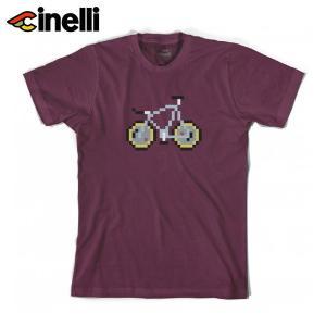 Cinelli/チネリ PIXEL BIKE 'LASER' BORDEAUX TSHIRT ピクセルバイク レーザー ルーベ  Tシャツ|agbicycle
