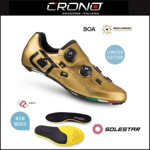 CRONO クロノ  CR-1 CARBON SOLESTARインソール付属モデル GOLD|agbicycle