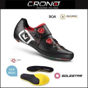 CRONO クロノ  CR-1 CARBON SOLESTARインソール付属モデル BLACK|agbicycle