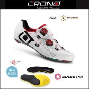 CRONO クロノ  CR-1 CARBON SOLESTARインソール付属モデル WHITE|agbicycle