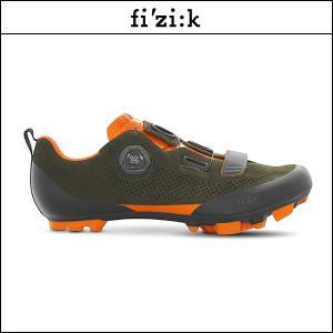 FIZIK フィジーク X5 TERRA スエード BOA ミリタリーグリーン/オレンジ X5 テラ スエード ボア  ミリタリーグリーン/オレンジ |agbicycle