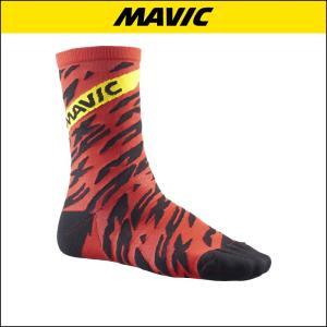 MAVIC(マビック) SOCKS DMAX PRO HIGH SOCK BK/FIE 自転車ソックス|agbicycle