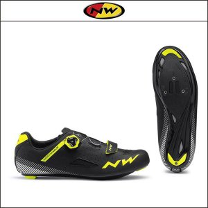 NORTHWAVE/ノースウェーブ CORE PLUS コアプラス BLACK/YELLOW FLUO|agbicycle
