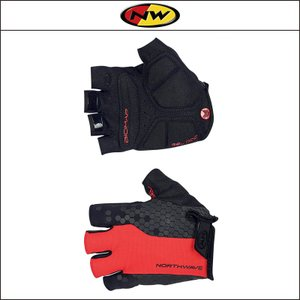 NORTHWAVE/ノースウェーブ  EVOLUTION SHORT GLOVE  エボリューション ショート グローブ RED/BLACK|agbicycle