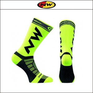 NORTHWAVE/ノースウェーブ  EXTREME LIGHT PRO SOCKS  エクストリーム ライト プロ ソックス YELLOW FLUO/BLACK|agbicycle