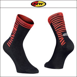 NORTHWAVE/ノースウェーブ  SWITCH LINE SOCKS  スイッチ ライン ソックス  BLACK/RED|agbicycle