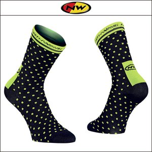 NORTHWAVE/ノースウェーブ  SWITCH LINE SOCKS  スイッチ ライン ソックス  BLACK/YELLOW FLUO|agbicycle