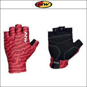 NORTHWAVE/ノースウェーブ  SWITCH LINE SHORT GLOVE  スイッチ ライン ショート グリップ ROUGH RED|agbicycle
