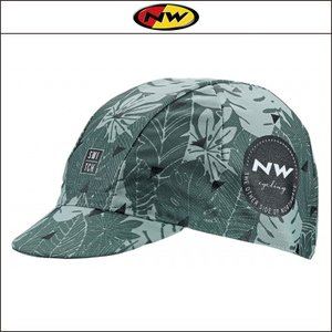 NORTHWAVE/ノースウェーブ  CAP FLOREAL LINE   キャップ フロレアル ライン GREEN FOREST|agbicycle