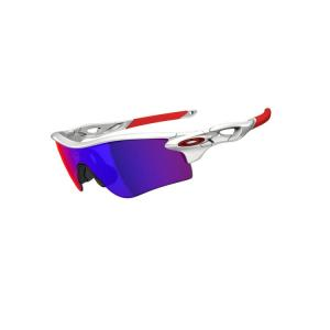OAKLEY Radarlock Path (Asian Fit) Polished White/Positive Red Iridium|agbicycle
